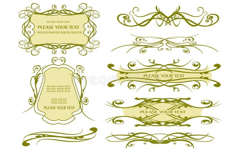 designelement page rengöringsduk vektor illustrationer