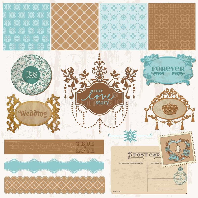 Download Designelement - TappningbröllopSet Vektor Illustrationer - Illustration av band, brudgum: 27282016
