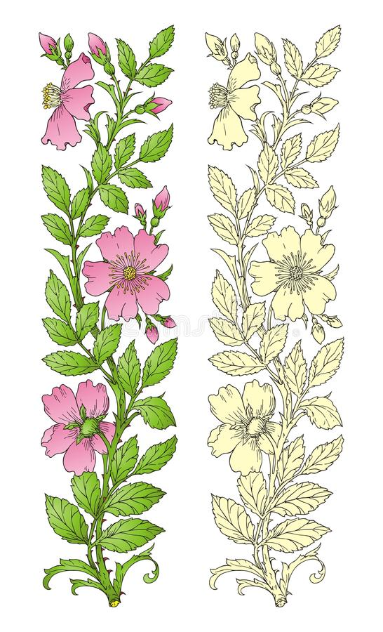 designelementblomma stock illustrationer