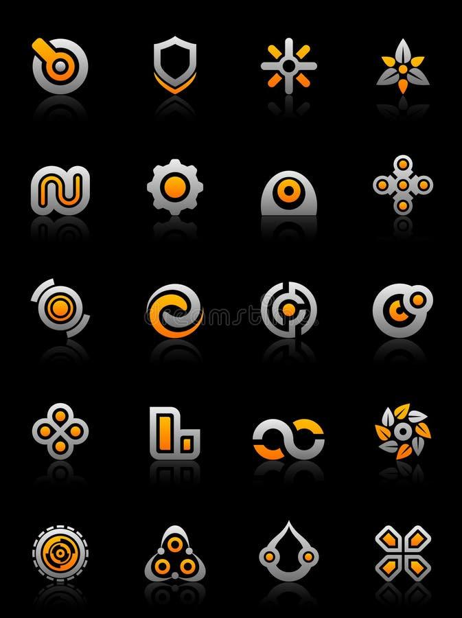 designelementdiagram royaltyfri illustrationer