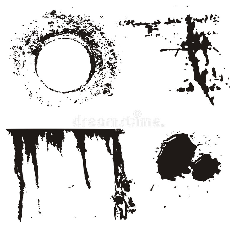 designelementgrunge royaltyfri illustrationer