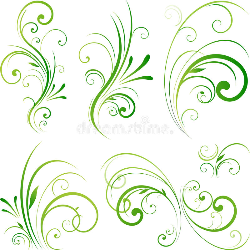 designelementnatur vektor illustrationer