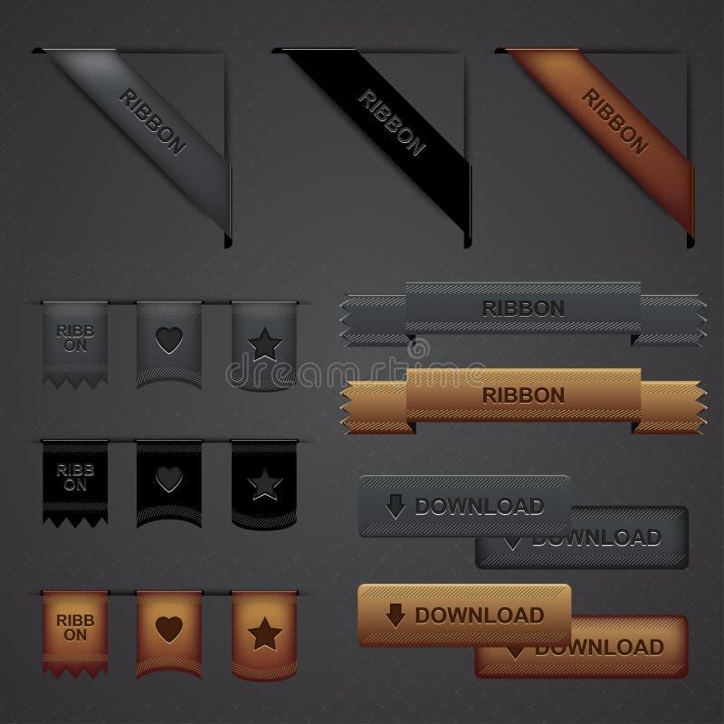 designelementrengöringsduk vektor illustrationer