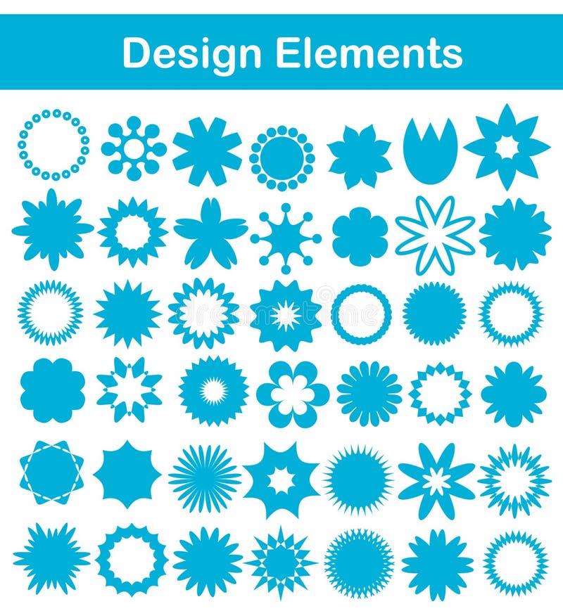 designelementset royaltyfri illustrationer