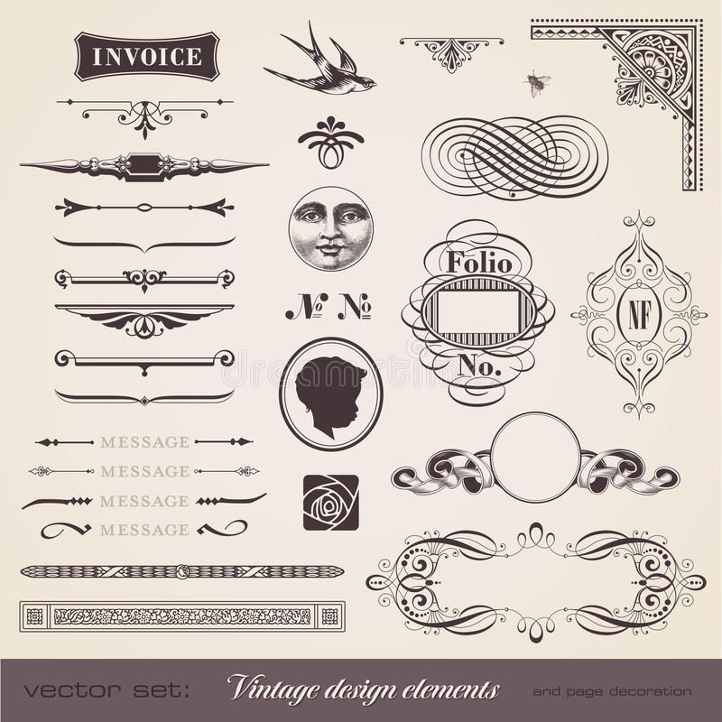 Download Designelementtappning vektor illustrationer. Illustration av calligraphic - 19775228