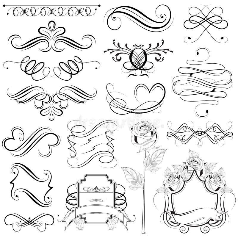 designelementtappning stock illustrationer