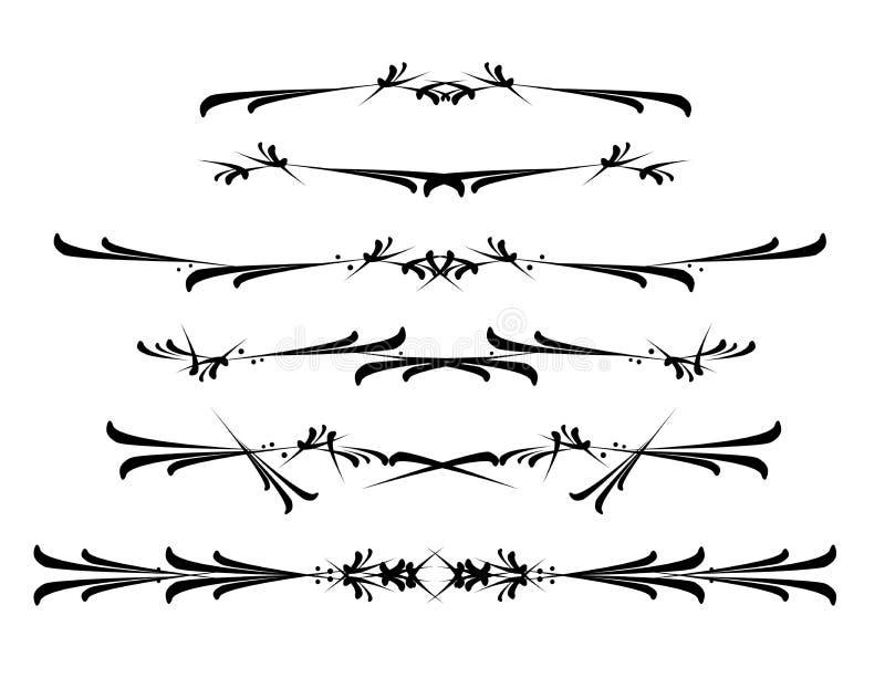 designelementvektor stock illustrationer