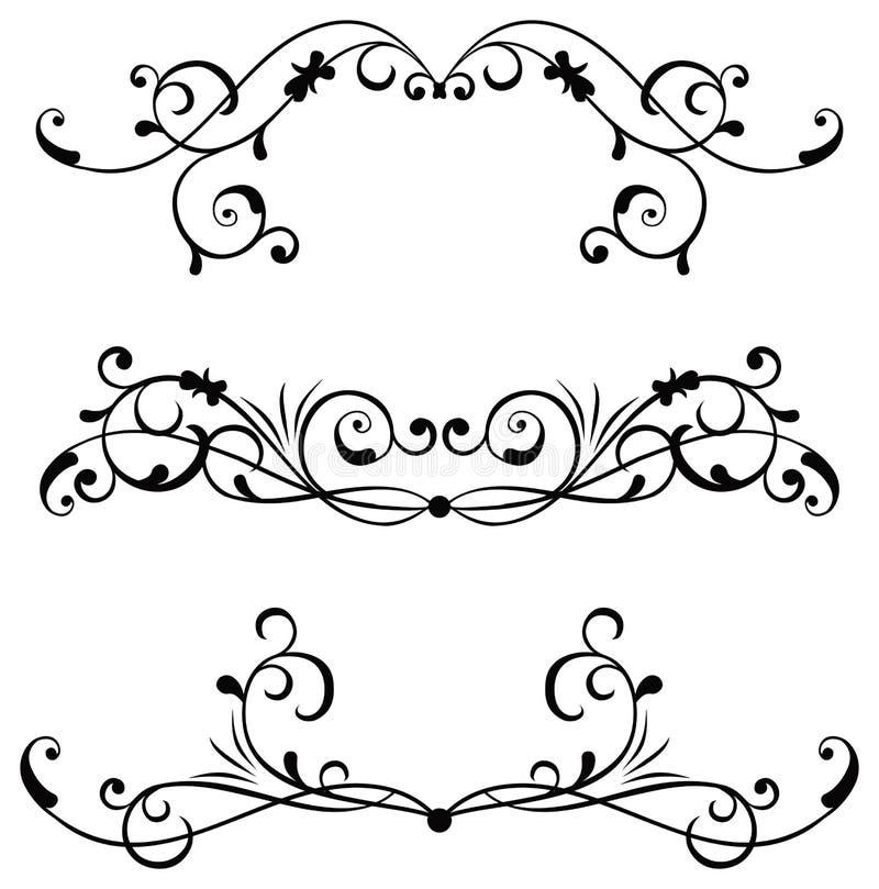 designelementvektor vektor illustrationer