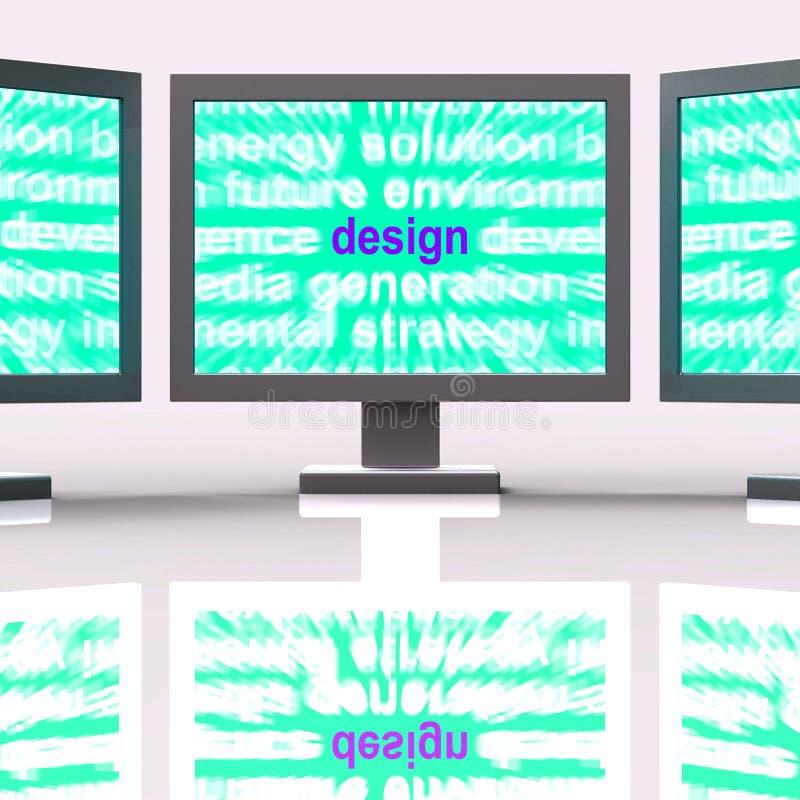 Designen övervakar showinnovationkreativitet och framkallning stock illustrationer