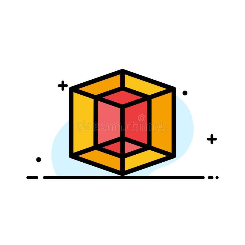 Designen diagrammet, plan linje för hjälpmedelaffär fyllde mallen för symbolsvektorbanret stock illustrationer