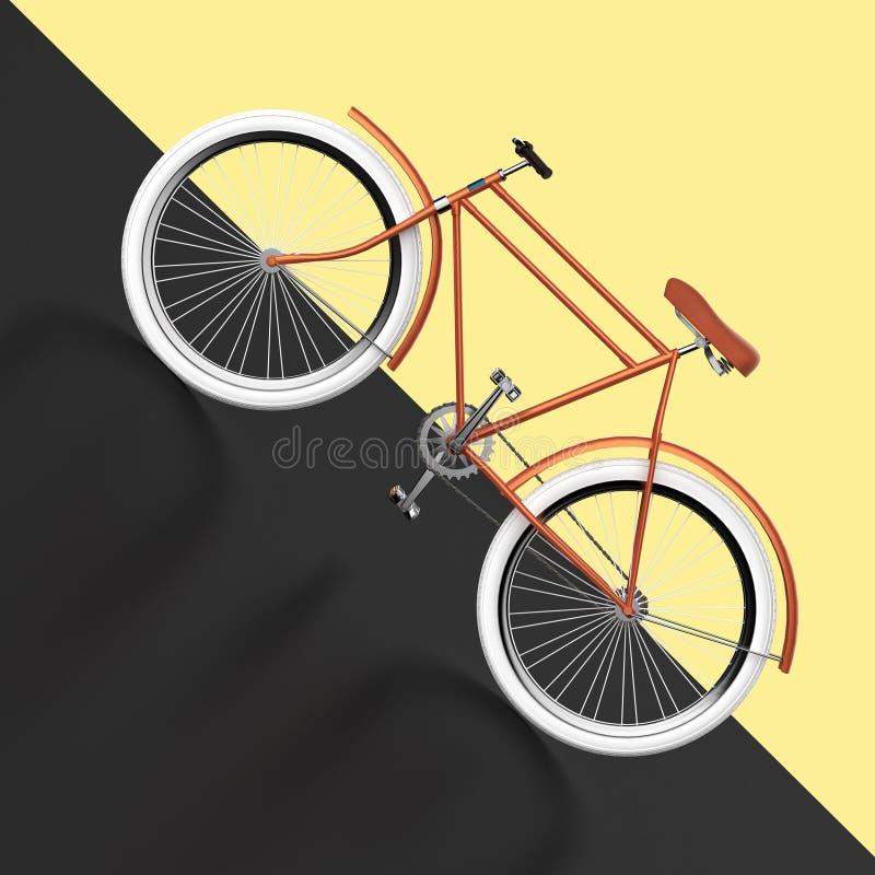 Designen för cykelbegreppsaffischen, den retro cykeln framför, på färgbackgound med stället för text sommar för sporthipsterritt  vektor illustrationer