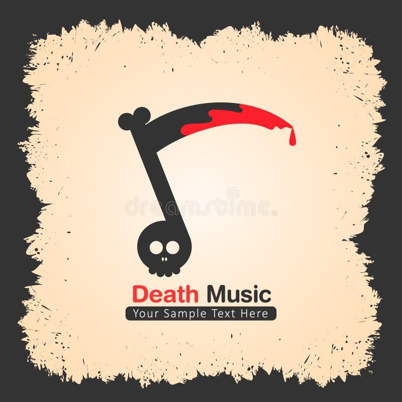 Designen för musikmusikbandlogoen som är passande för, vaggar, belägger med metall etc. stock illustrationer