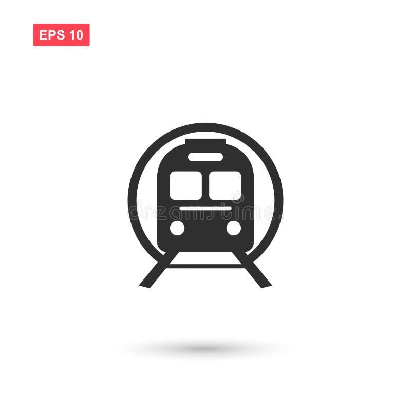 Designen för symbolen för drevgångtunnelvektorn isolerade 2 stock illustrationer