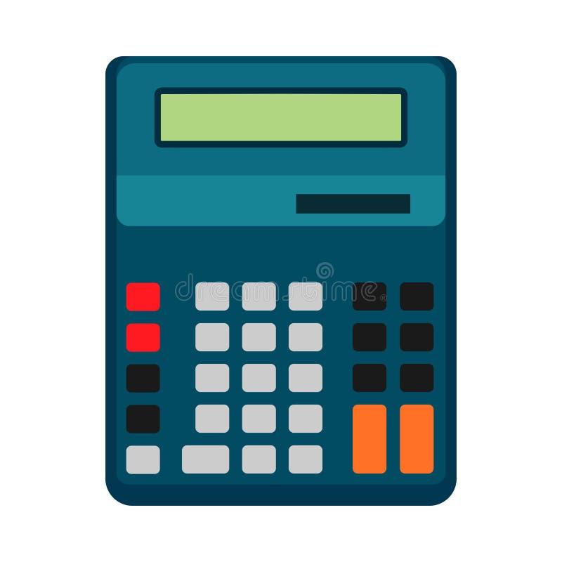 Designen för symbolen för illustrationen för räknemaskinaffärsvektorn isolerade Finans för knappskärmtecken Plan utrustning för k vektor illustrationer