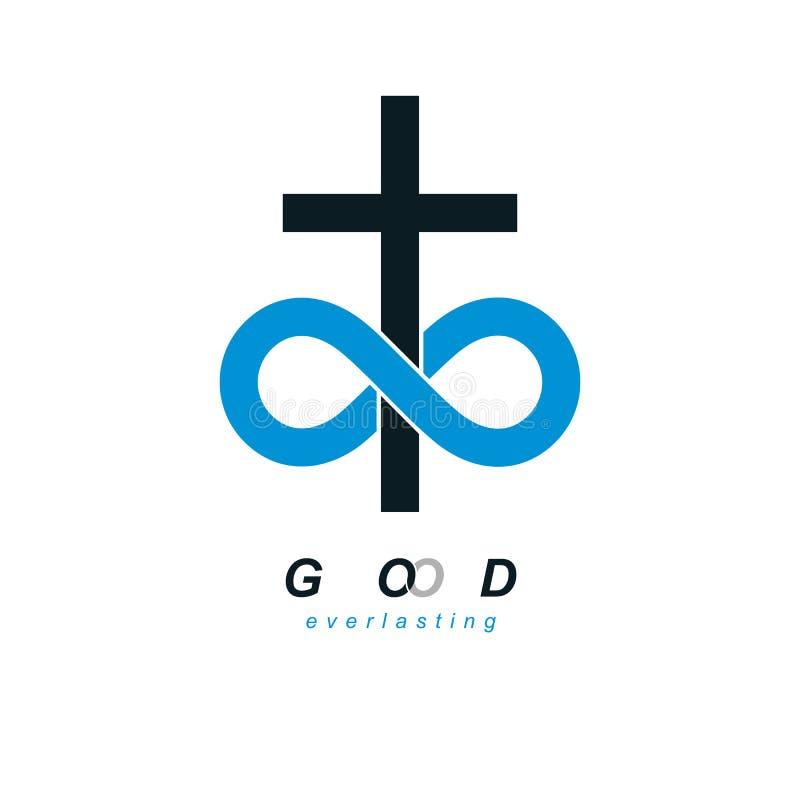 Designen för symbolet för den eviga gudvektorn kombinerade den idérika med infi royaltyfri illustrationer