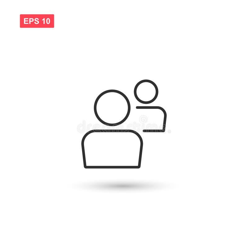 Designen för vektorn för symbolen för bruksströmbrytarekontot isolerade 2 stock illustrationer