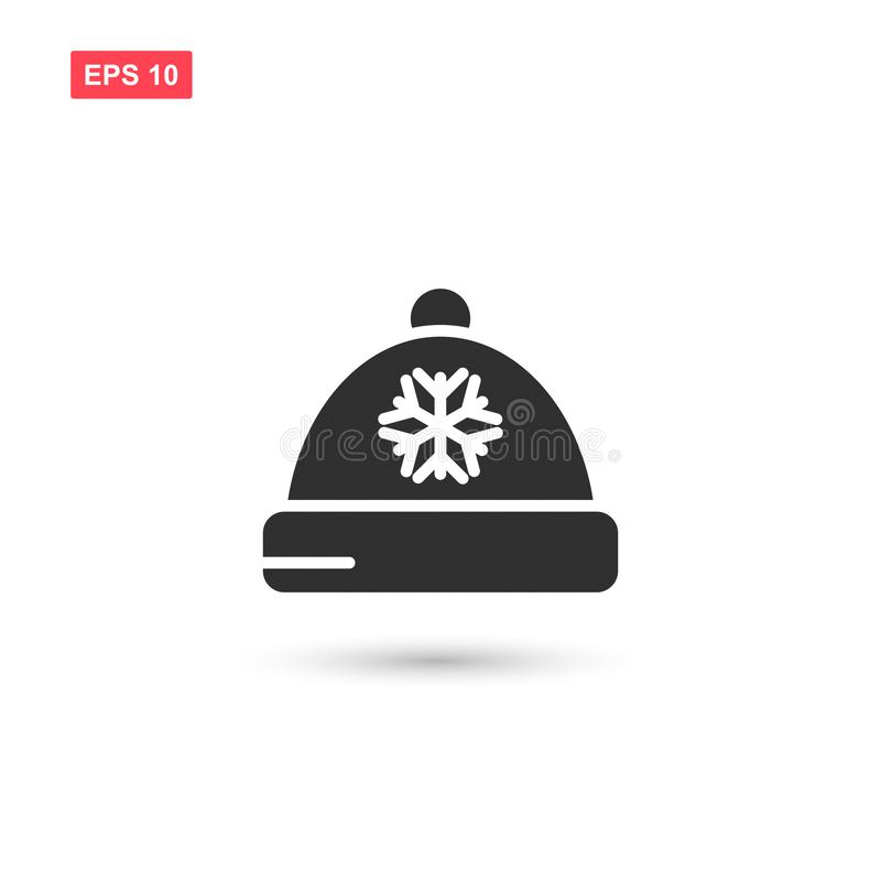 Designen för vektorn för vinterhattsymbolen isolerade vektor illustrationer