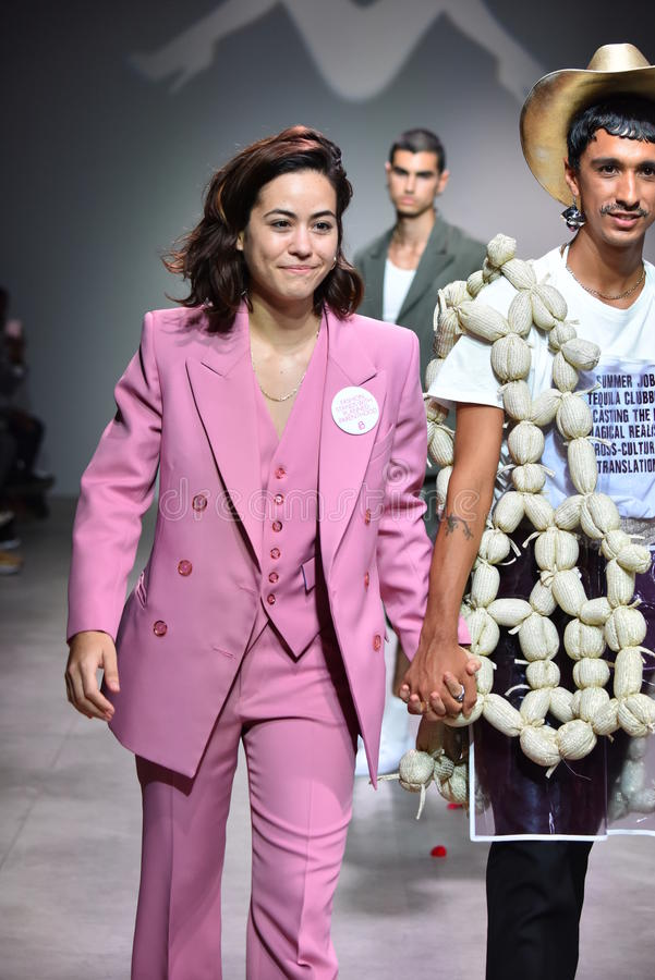 Designer Barbara Sanchez-Kane And Model Walks The Runway At