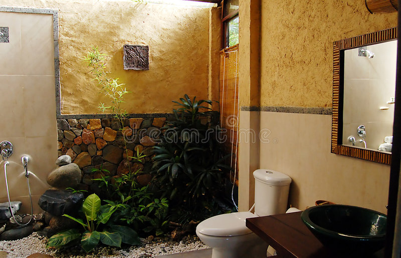 Designer bathroom stock images