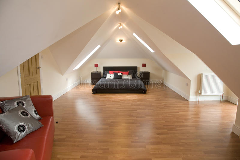 Download A designer bedroom stock image. Image of roof, house - 11513341