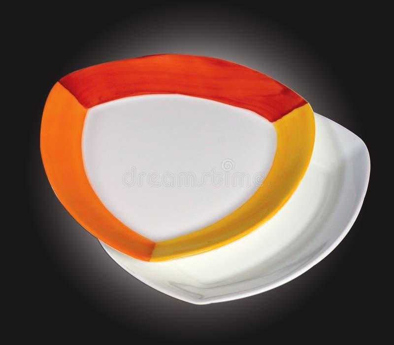 Designer ceramic plates stock image