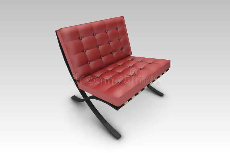 Download Designer Chair Red stock illustration. Image of furniture - 20500912