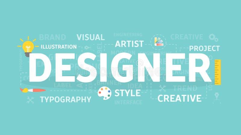 Designer concept illustration. royalty free illustration