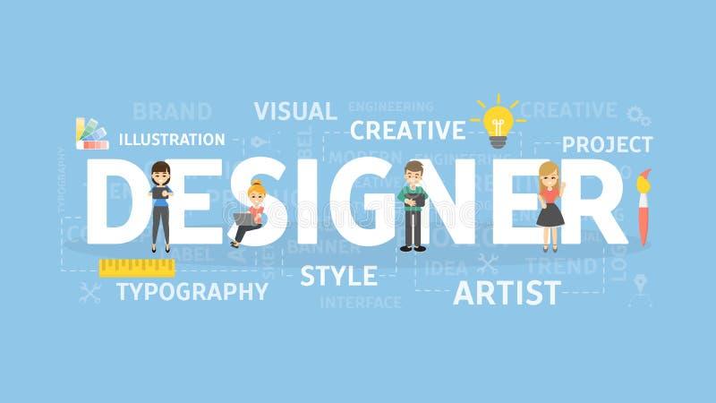 Designer concept illustration. stock illustration