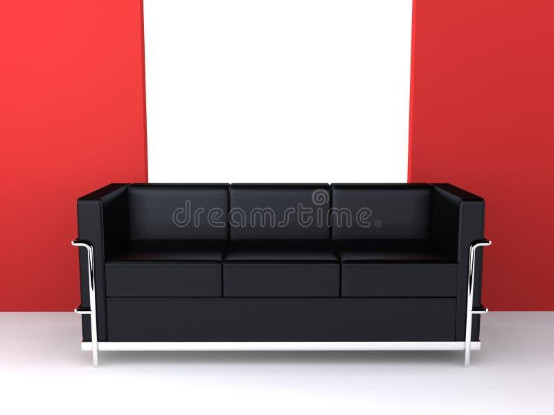 Designer couch vector illustration