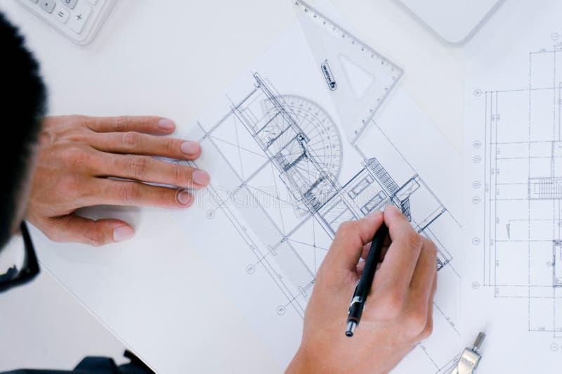 Designer de interiores Corporate Achievement Planning Desi dos colegas imagem de stock royalty free
