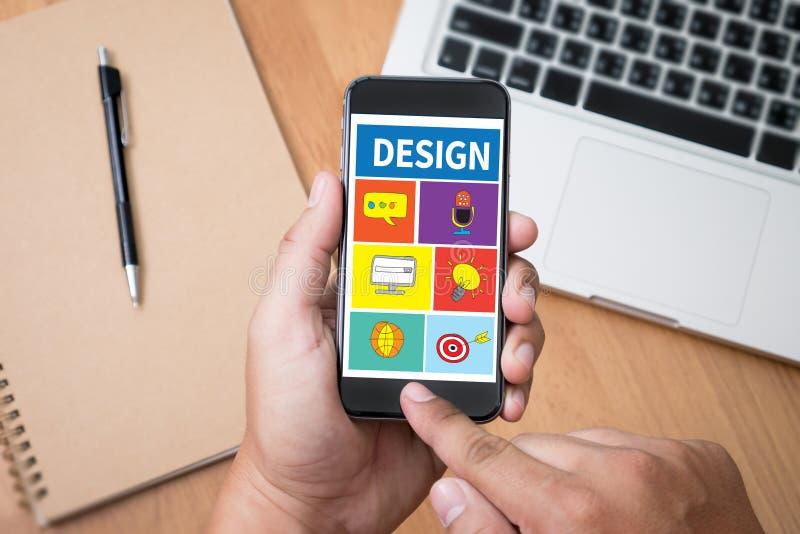 Designer-Design Creativity Thinking-Ideen-Designer-Künstler Creati lizenzfreies stockfoto