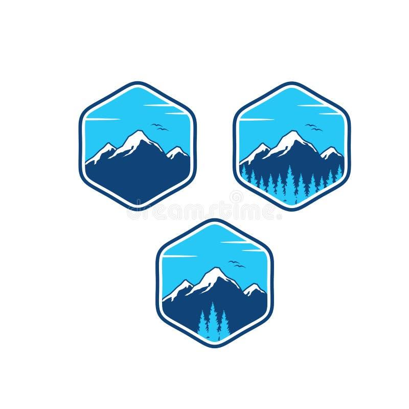 designer för bergaffärsföretaglogo royaltyfri illustrationer