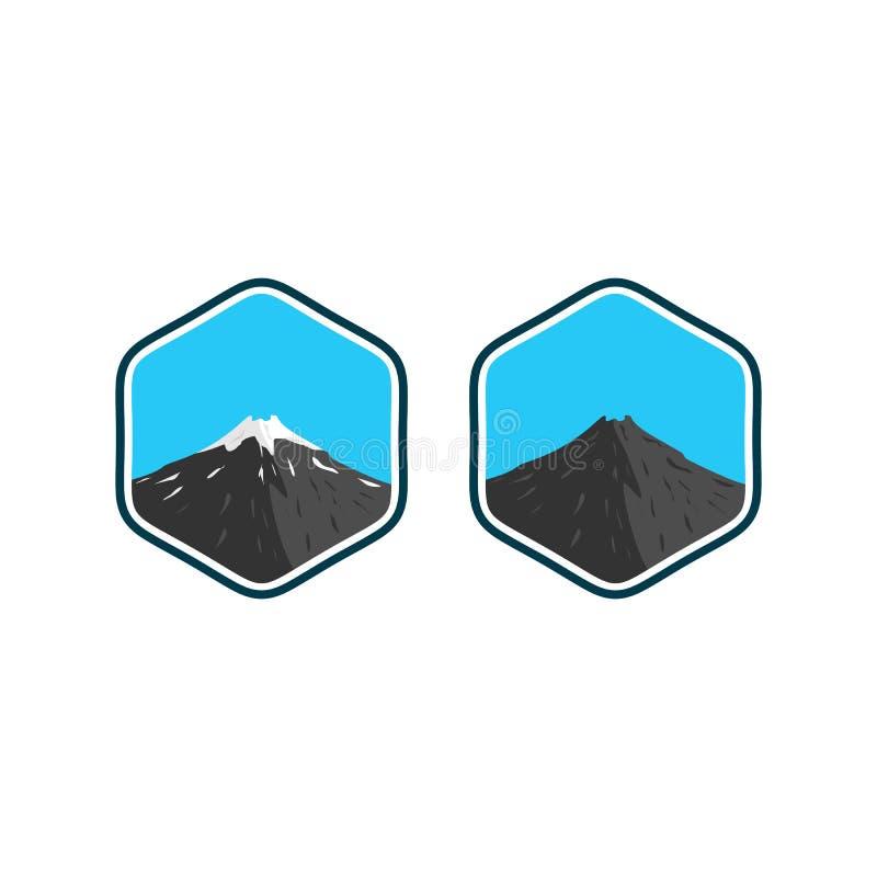 Designer för berglogoinspirationer royaltyfri illustrationer