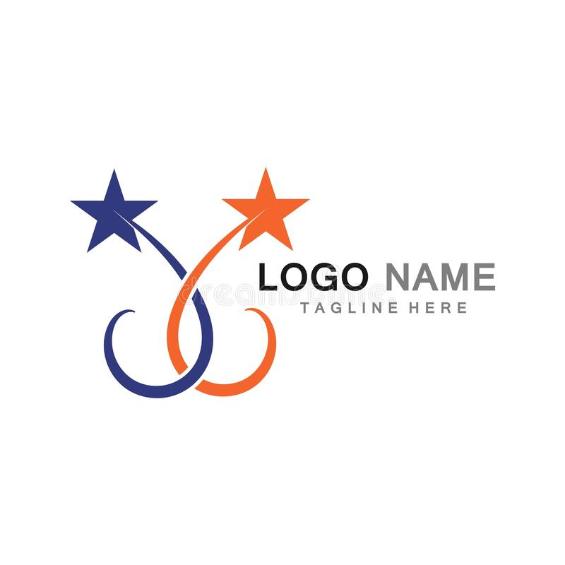 Designer för illustration för symbol för stjärnaLogo Template vektor vektor illustrationer