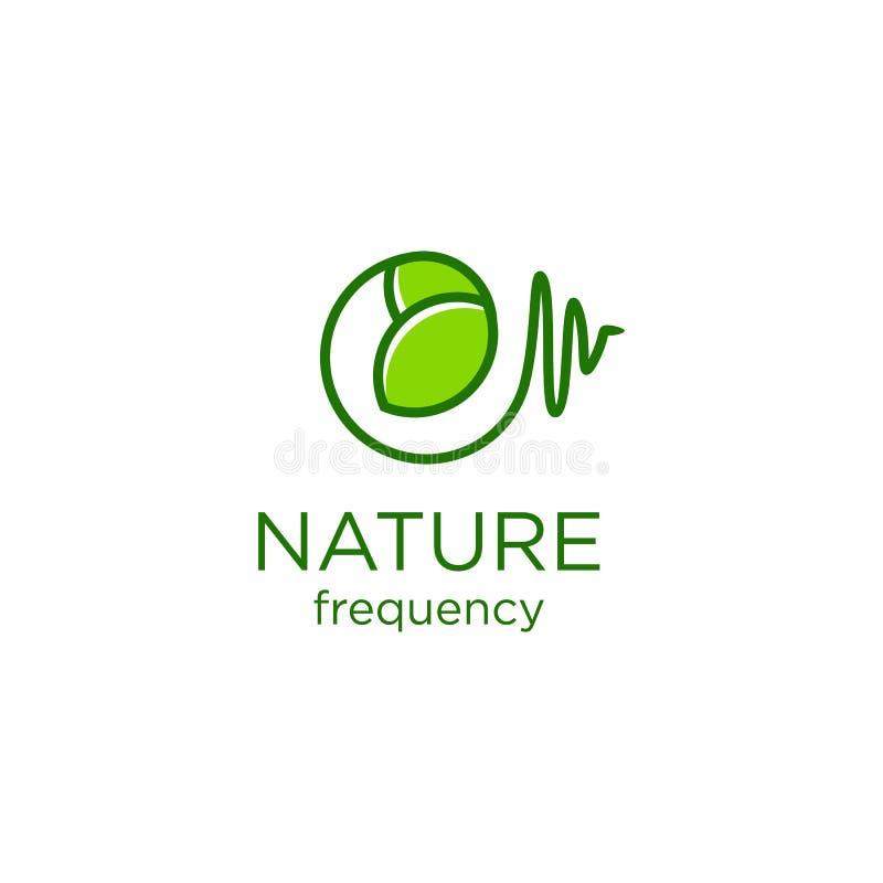 Designer för naturfrekvenslogo stock illustrationer