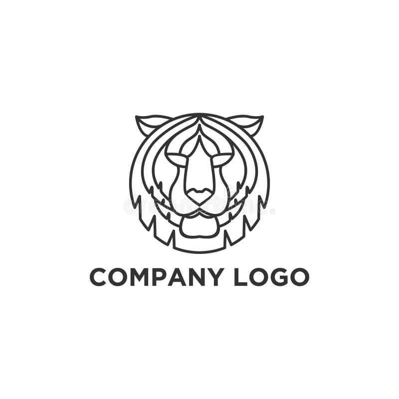 Designer för tigerframsidalogo royaltyfri illustrationer