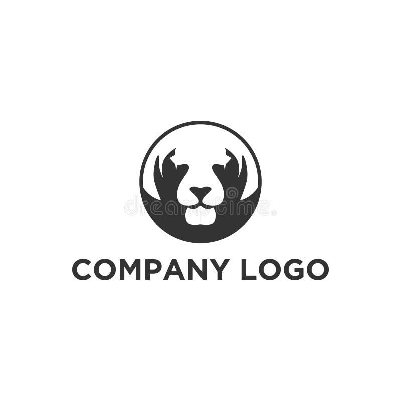 Designer för tigerframsidalogo stock illustrationer