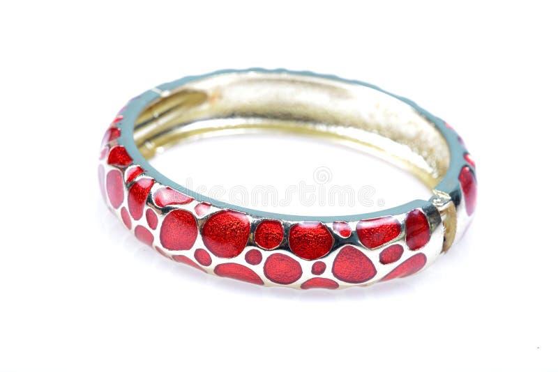 Designer golden bracelet jewellery stock photography