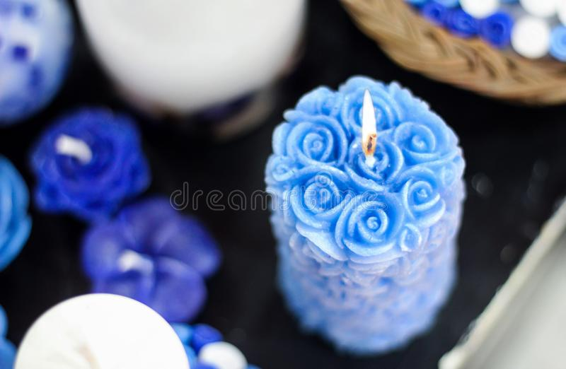 Hand made Candle stock image