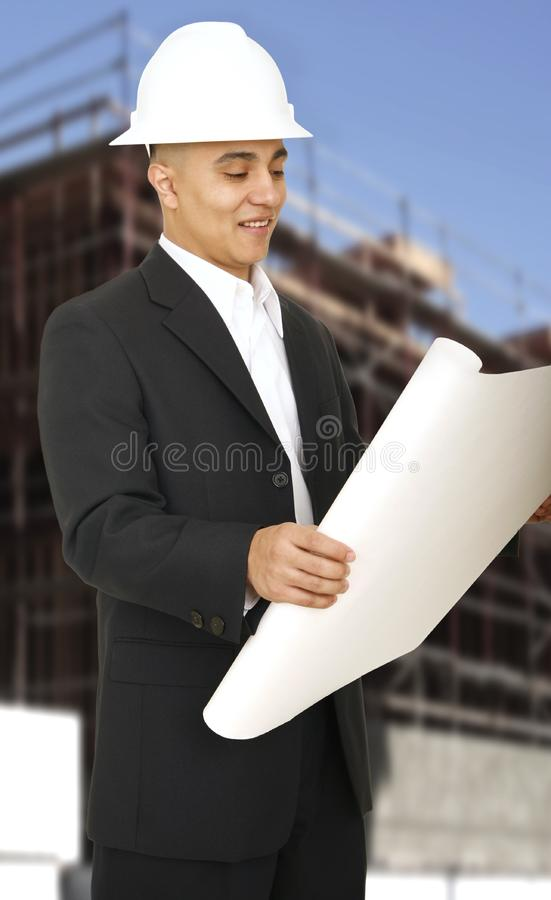 Designer Holding Paper royalty free stock photos