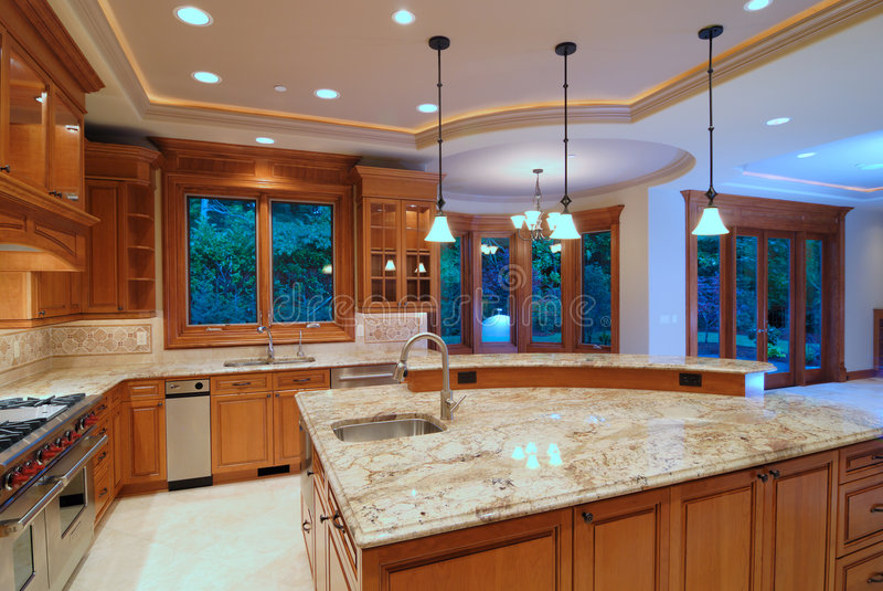 Download Designer Kitchen stock image. Image of fixture, family - 3157377