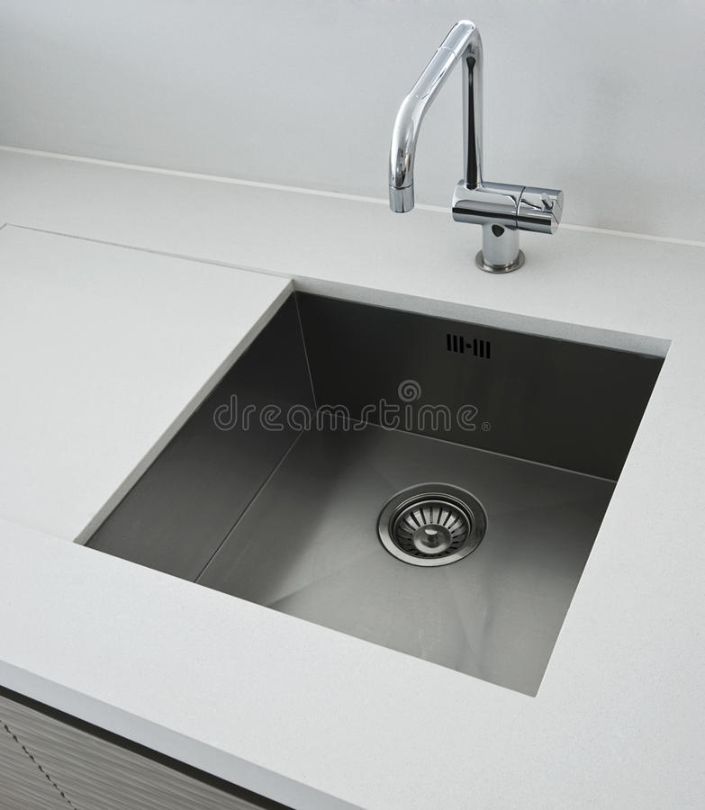 Designer Kitchen Sink Royalty Free Stock Image