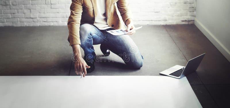 Designer-Thinking Ideas Creative-Plan-Konzept stockfotos