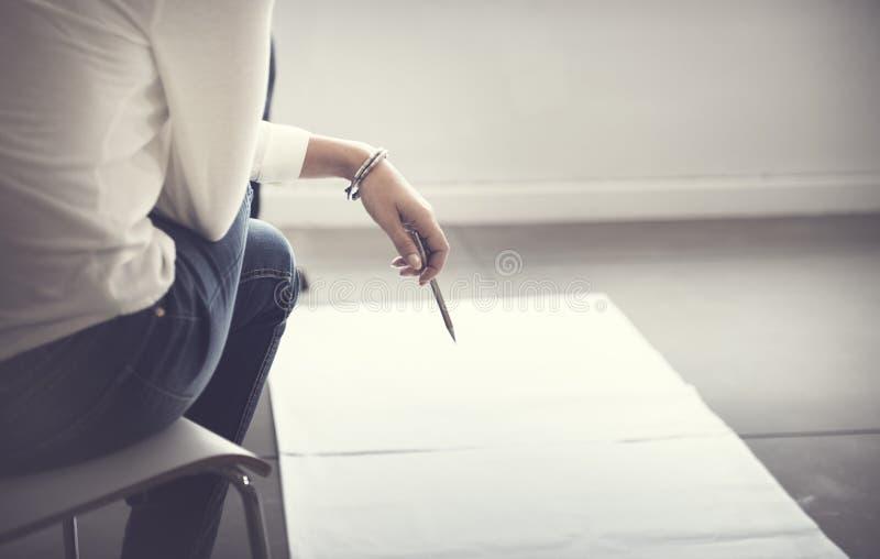 Designer-Thinking Ideas Creative-Plan-Konzept lizenzfreies stockfoto