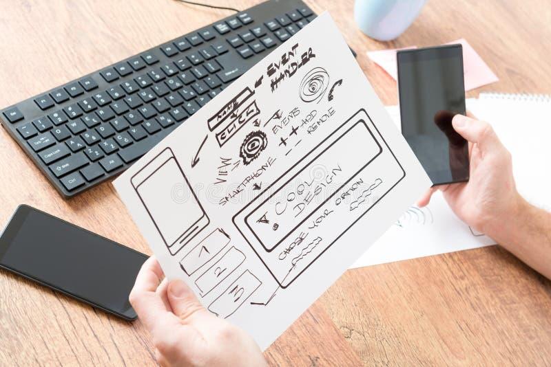Designer at work stock image