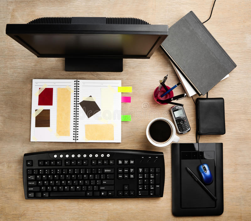 Download Designer working desk stock photo. Image of colorful - 14022940