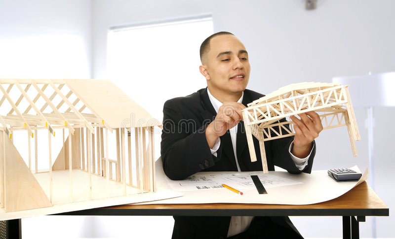 Designer Working In His Office stock photos