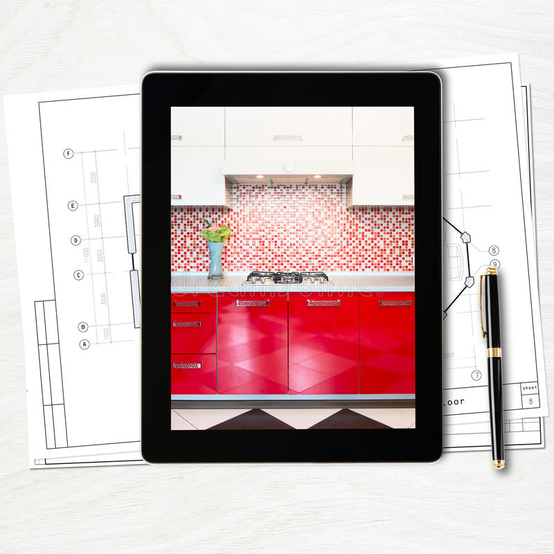 Designer workplace with digital tablet computer stock photo image of contemporary notebook for Best tablet for interior designers