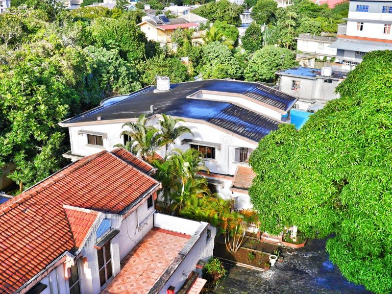Designerhäuser in ländlichem Mauritius stockfoto