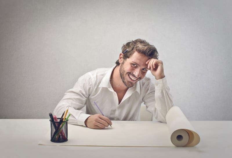 Designerlächeln stockfoto